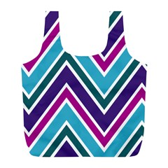 Fetching Chevron White Blue Purple Green Colors Combinations Cream Pink Pretty Peach Gray Glitter Re Full Print Recycle Bags (l)