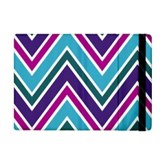 Fetching Chevron White Blue Purple Green Colors Combinations Cream Pink Pretty Peach Gray Glitter Re Ipad Mini 2 Flip Cases by AnjaniArt