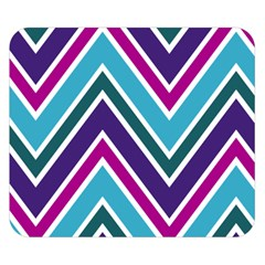 Fetching Chevron White Blue Purple Green Colors Combinations Cream Pink Pretty Peach Gray Glitter Re Double Sided Flano Blanket (small)