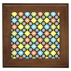 Diamond Argyle Pattern Flower Framed Tiles