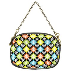 Diamond Argyle Pattern Flower Chain Purses (two Sides)  by AnjaniArt