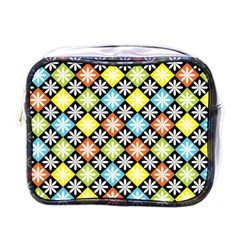 Diamond Argyle Pattern Flower Mini Toiletries Bags