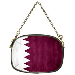 Flag White Purple Chain Purses (one Side)  by AnjaniArt
