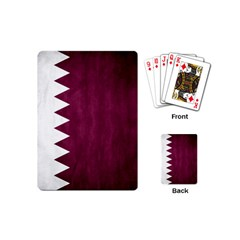 Flag White Purple Playing Cards (mini)  by AnjaniArt