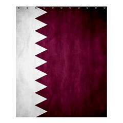 Flag White Purple Shower Curtain 60  X 72  (medium)  by AnjaniArt