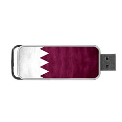 Flag White Purple Portable Usb Flash (two Sides) by AnjaniArt