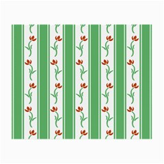 Flower Background Green Small Glasses Cloth (2 Side)