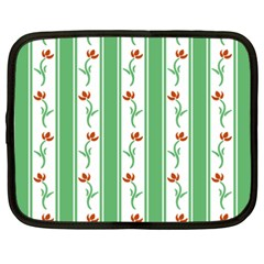 Flower Background Green Netbook Case (xxl)  by AnjaniArt
