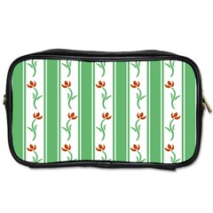 Flower Background Green Toiletries Bags 2 Side by AnjaniArt