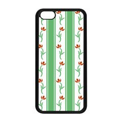 Flower Background Green Apple Iphone 5c Seamless Case (black)