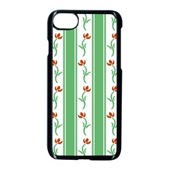 Flower Background Green Apple Iphone 7 Seamless Case (black)