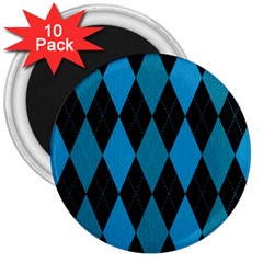 Fabric Background 3  Magnets (10 Pack)  by AnjaniArt