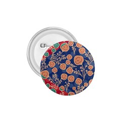 Floral Red Blue Flower 1 75  Buttons by AnjaniArt