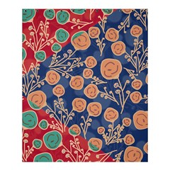 Floral Red Blue Flower Shower Curtain 60  X 72  (medium)  by AnjaniArt