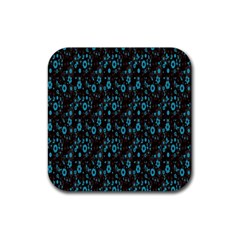 Flower Fondo Rubber Square Coaster (4 Pack)  by AnjaniArt