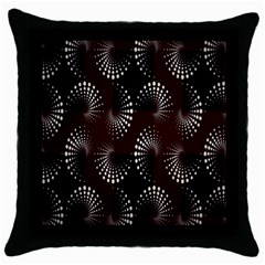 Free Dot Spiral Seamless Throw Pillow Case (black) by AnjaniArt