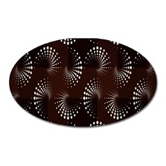 Free Dot Spiral Seamless Oval Magnet by AnjaniArt