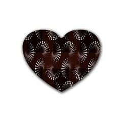 Free Dot Spiral Seamless Rubber Coaster (heart)  by AnjaniArt