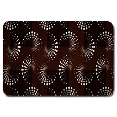 Free Dot Spiral Seamless Large Doormat  by AnjaniArt