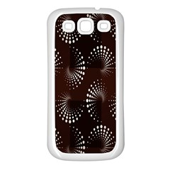 Free Dot Spiral Seamless Samsung Galaxy S3 Back Case (white) by AnjaniArt