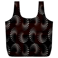 Free Dot Spiral Seamless Full Print Recycle Bags (l)  by AnjaniArt