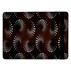Free Dot Spiral Seamless Samsung Galaxy Tab Pro 12 2  Flip Case by AnjaniArt