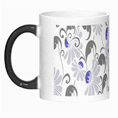 Flourishy Floral Flower Purple Morph Mugs by AnjaniArt