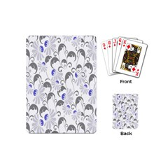 Flourishy Floral Flower Purple Playing Cards (mini)  by AnjaniArt