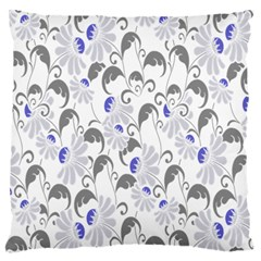Flourishy Floral Flower Purple Standard Flano Cushion Case (one Side)