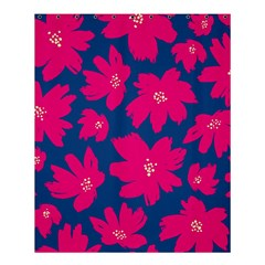 Flower Red Blue Shower Curtain 60  X 72  (medium)  by AnjaniArt