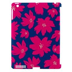 Flower Red Blue Apple Ipad 3/4 Hardshell Case (compatible With Smart Cover)
