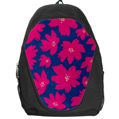 Flower Red Blue Backpack Bag by AnjaniArt
