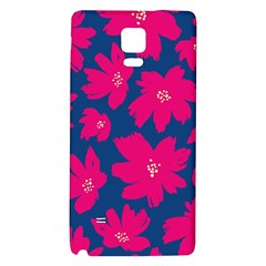 Flower Red Blue Galaxy Note 4 Back Case by AnjaniArt