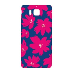 Flower Red Blue Samsung Galaxy Alpha Hardshell Back Case