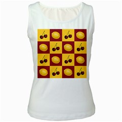 Fruit Pattern Women s White Tank Top by AnjaniArt