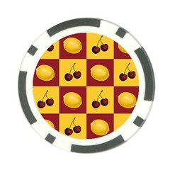 Fruit Pattern Poker Chip Card Guards