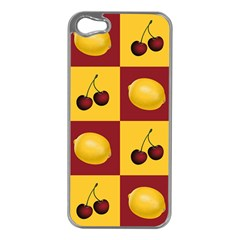 Fruit Pattern Apple Iphone 5 Case (silver)