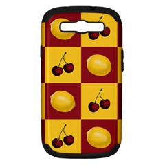 Fruit Pattern Samsung Galaxy S Iii Hardshell Case (pc+silicone) by AnjaniArt
