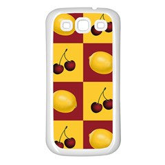 Fruit Pattern Samsung Galaxy S3 Back Case (white)