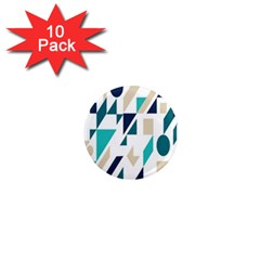 Geometric 1  Mini Magnet (10 Pack)  by AnjaniArt