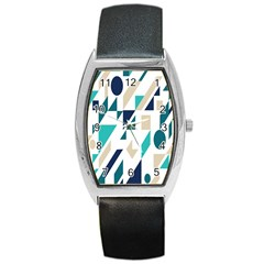 Geometric Barrel Style Metal Watch