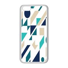 Geometric Apple Iphone 5c Seamless Case (white) by AnjaniArt