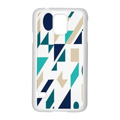 Geometric Samsung Galaxy S5 Case (white) by AnjaniArt