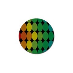 Geometry Round Colorful Golf Ball Marker (10 Pack) by AnjaniArt