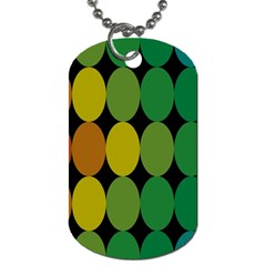 Geometry Round Colorful Dog Tag (two Sides) by AnjaniArt