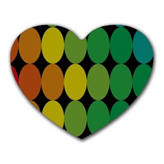 Geometry Round Colorful Heart Mousepads