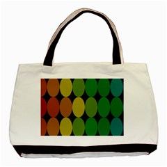 Geometry Round Colorful Basic Tote Bag (two Sides) by AnjaniArt