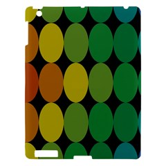 Geometry Round Colorful Apple Ipad 3/4 Hardshell Case by AnjaniArt