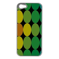 Geometry Round Colorful Apple Iphone 5 Case (silver) by AnjaniArt