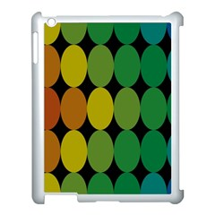 Geometry Round Colorful Apple Ipad 3/4 Case (white)